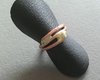 Ring copper with silver