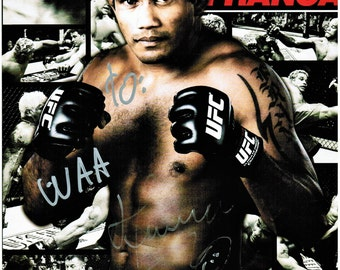 UFC Hermes Franca Official 8 x 10  Photo Personally AUTOGRAPHED at the MGM Grand Las Vegas Fan Fair; Ultimate Fighter Collectible Item