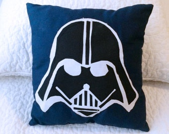 Darth Vader Star Wars Pillow *Made by a KID* Little Boys Room Bedroom~Home Decor Kids~ Character Bedding~Any Color~Great gift idea!