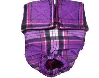 Purple Plaid Washable Bunny Diaper Rabbit Diaper