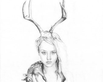 Goddess II (Deer Girl)