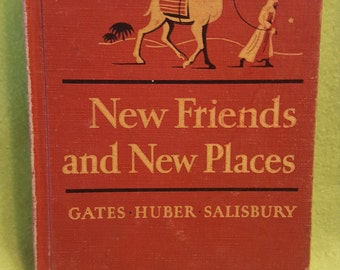 "Vintage Children's Reader ""New Friends and New Places"" Circa 1955"