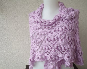 pink crochet shawl crochet shawl wrap shawl accessories winter shawl  gift for her mother day gift