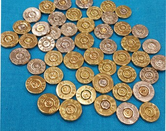 BARGAIN!! Mixed Headstamps Bullet Slices & Calibers. Included are: (20) 40 Cal. (20) 223 Cal and (10) 9MM. That's Right 50 Bullet Slices.