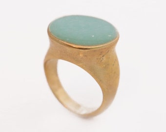 Turquoise Ring, Turquoise Ring Gold, Birthstone Ring, Enamel Jewelry, Enamel Ring, Turquoise Jewelry, Rings, Handmade Jewelry, Jewelry Gift