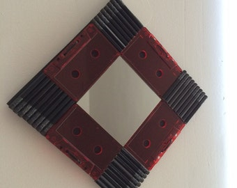 Cassette Mirror - DIAMOND RED (Black Pencils)