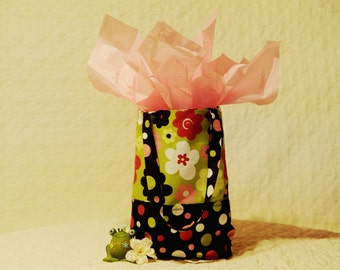 Flowers and Polka Dots Gift Bag