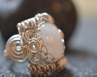 Moonstone silver ring (925)