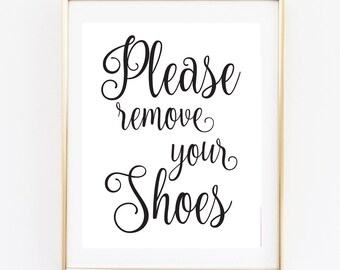Remove your shoes | Etsy