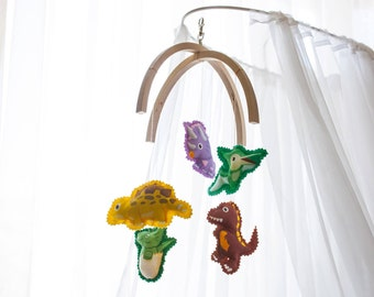 Baby mobile Nursery decor Dinosaur mobile Crib mobile Dinosaur baby mobile Dinosaurs décor Dino Land nursery mobile Nursery mobile