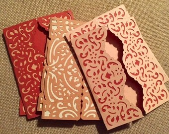 Coral Cut-Outs Cards - 6 pk