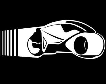 Tron Lightcycle Vinyl Decal, movies, comics, games, science fiction, sci fi