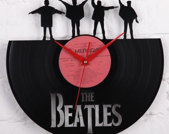 Beatles vinyl record wall clock