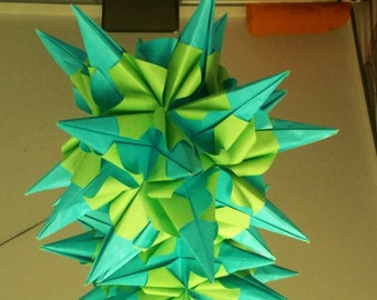 "Origami Kusudama ""Hedgehog curly"