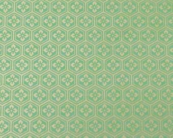 4 sheets A4 Green Gold Yuzen Chiyogami Washi Origami Papers 224