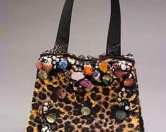 Faux Cheetah Fur Bag