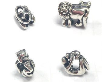 Lions,Faces,Rolling Troll,Maternity,Troll Coin,Om European sliver beads use on Trollbeads Bracelet  925 Silver