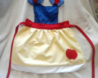 Toddler/Kid's Princess Inspired Apron- Snow White inspired
