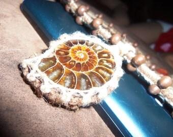 Hemp wrapped necklace