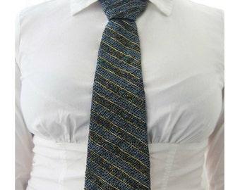 Tie beads on satin - Галстук из бисера на атласе