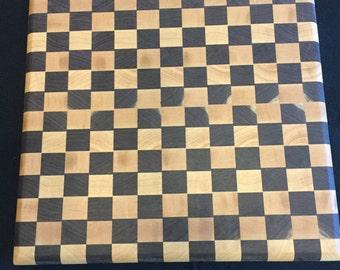 End Grain Cutting Board, Checkered Maple & Walnut