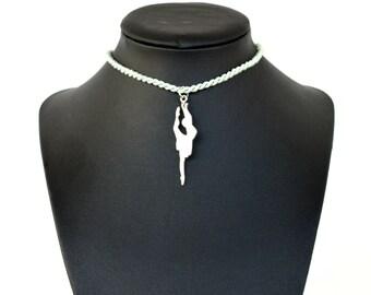 Ballerina Necklace / Inox 4 cm