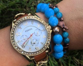 Chunky Blue Bracelet (Larger)