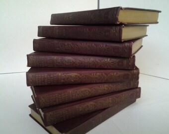 Vintage set of 8 mini literature library