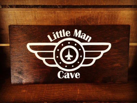 Man Cave Brats : Little man cave sign personalized room aviation