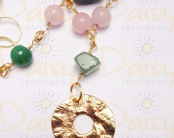 Beautiful, feminine, necklace and earrings juegoo