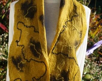 Alpaca Nuno felted scarf