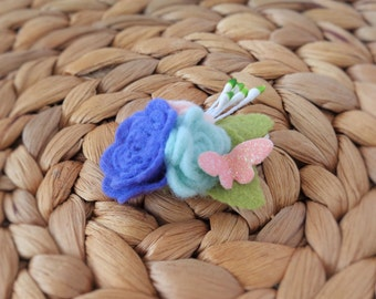 Floral Bouquet Hair Clip - Rosie