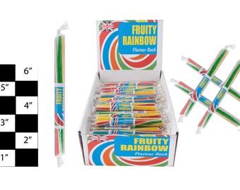 fruity rainbow rock sticks 10 - 100