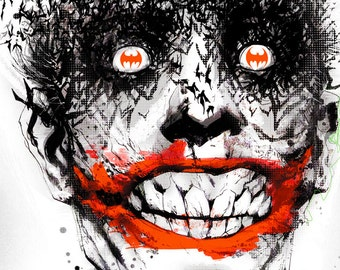 The Joker by Jock Fine Art Print
