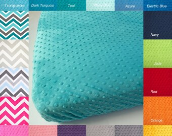 Minky Crib Sheet.  You Choose the Color.  Super Soft and Durable.