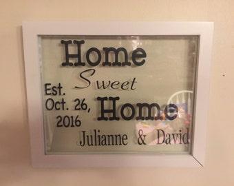 Home Sweet Home Floating frame
