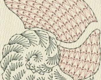 Moks2 Nautilus shell 9.1x12.5cm Machine Embroidery Design in formats: emb, dst, hus, pes, jef, exp, vp3, vip.