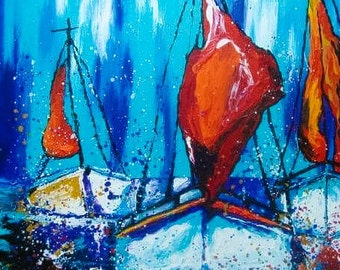 "Summer in my hands""original acrylic painting original art"