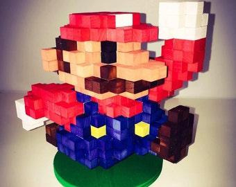 Super Mario inspired 3D-Holzskulptur