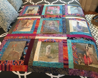 9 photo lap/wall hanging quilt