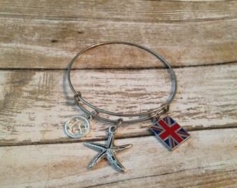 Chromosome 18, Starfish, Union Jack bracelet