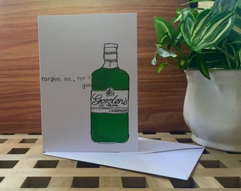 Gin Greetings Card