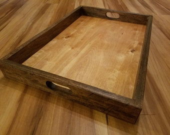 Rustic Two-toned Tray