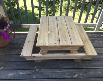 Kids Cedar Picnic Table