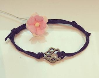 Paw - bracelet in black, paw paw, animal, animals,