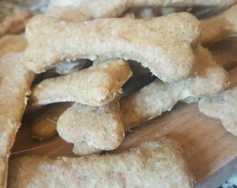 Peanut Butter, Banana and cinnamon, dog treats and biscuits