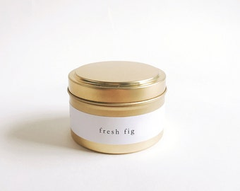 Fresh Fig Gold Travel Soy Candle
