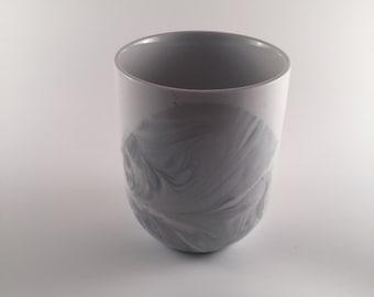 Gray marble mug
