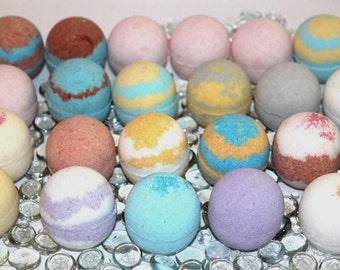 Bath Bomb Fizzy 9 (2.5oz) Lot Assorted Fizzies w/ moisturizing Shea &  Mango Butter