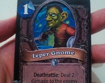 HearthStone 3D Card (Leper gnome before nerf) 100% Hand-made